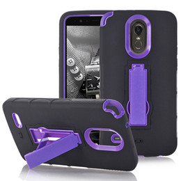 Wholesale Cases For Zte - 3 in 1 Hybrid Robot Armor Silicone Plastic Stand Case for Samsung S8 Plus J3 Emerge J7 LG LV3 Stylo3 X Style Tribute HD LS676 ZTE Z981 LG G6
