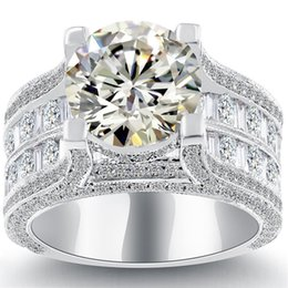 Wholesale Natural Round Certified Diamonds - 6.18 K-VS2 Certified Natural Round Diamond Engagement Ring 14k White Gold