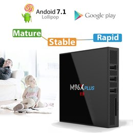 Wholesale Os Media Player - 2GB 16GB S912 TV BOX M96X Plus Octa core Android 7.1 OS Dual AC WiFi BT4.0 1000M Lan CODI KD17.3 installed Android TV Box Media Player