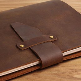 Wholesale Free Account - Free shipping LY-NB02 A5 handmade vintage antique genuine leather Loose-leaf notebook replaceable inserts notepads diary planner journal