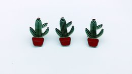 Wholesale Cactus Trees - 20pcs fashion cactus tree, brooch accessories, provide production.Used for jeans, hats and other decorative brooches