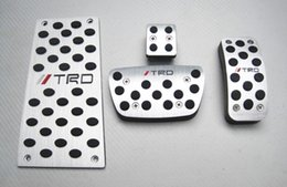 Wholesale Car Footrest - Car Accessories For Toyota Highlander New Camry AT Auto Accelerator Brake Footrest Pedal Pedales Stickers Styling Plates Pad