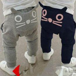 Wholesale owl baby pants - Cat Haren pants Cute Cartoon Pattern Baby Pants Boys Harem Pants Cotton Owl Trousers Spring and Autumn