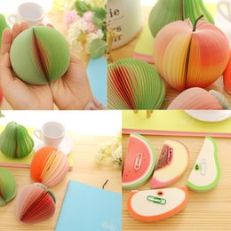 Wholesale Shape Sticky Note Pad - Wholesale- Fruit Shaped Portable Scratch Paper Scrapbooking Notepad Memo Stationary Notes Cute Pad Scratchpad Post Sticky Apple Pear
