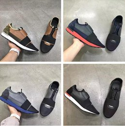 Wholesale cheap men name brand sneakers - Name Brand Mixed Colors Casual Shoe Man Woman Race Runner Shoes Flat Fashion Designer Low Cut Patchwork Leather Mesh Cheap Sneaker Size 46