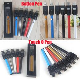 Wholesale Slim Batteries - Auto Mini Slim Vape CE3 Button 280mAh O Pen Bud 510 Thread Batteries Touch Pen for Thick Oil Wax Vaporizer Cartridges Atomizer ecigs