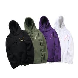 Wholesale Hip Hop Mens Sweaters - Men's Hoodie Hip Hop kanye west YEEZUS Logo Box ARC LOGO JACKET mens women jumpers sweater Hoodie Red sweatshirt