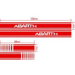 Wholesale Fiat Doblo - 1 Pair Customizable ABARTH Door Stickers Decal Car-Styling For fiat 500 grande punto bravo doblo panda ducato car accessories