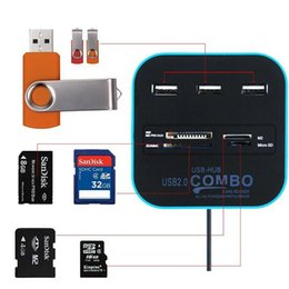 Wholesale Combo Memory Card - All In One Combo 3 Port HUB + USB 2.0 Memory Card Reader For SD MMC M2 MS MP Pro Duo