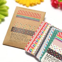 Wholesale Decorative Stickers Scrapbooking - 27 Sheets Decorative Masking Sticker Set Labeling Craft Scrapbooking