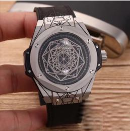 Wholesale Big Bang Men - Luxury man Big Bang Quartz-battery Classic Wristwatch Black Dial Rubber Strap rose gold case skeleton skull day date replicas wristwatches