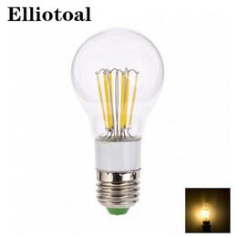 Wholesale Cree Blub - Wholesale- E27 led e14 cob filament 12V lamp dimmable110V 220V bulb 3w 6w e27 e14 led lamp filament housing cob corn blub e27 e14
