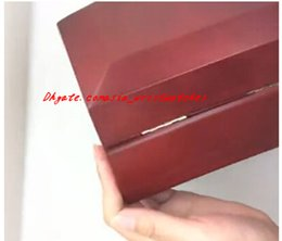 Wholesale watch boxes for sale - Hot Sales Wholesale Luxury Red Watch Boxes Mens For Watch Box Wooden Inner Outer Men Woman's Watches Boxes Papers