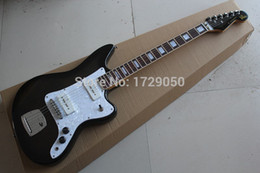Wholesale Transparent Black Guitar - Free Shipping High quality New Arrival jazz master Natural wood transparent black Electric Guitar 2015 1