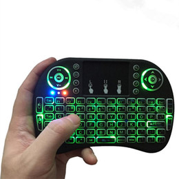 Rato do ar t95 on-line-RII I8 Backlit Remoto Air Mouse Mini Teclado com Retroiluminado TouchPad Controle Sem Fio para Android Smart TV Caixa MXQ M8S X96 T95 x92