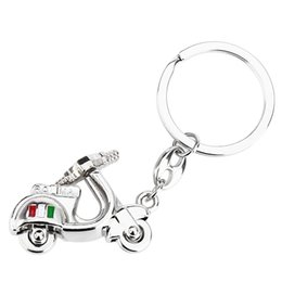 Wholesale Nice Materials - Car Fittings Key Ring Cute Ladies Motorcycle Design Surface Polishing Texture Hand Feeling Zinc Alloy Material As Nice Present