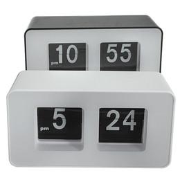 Wholesale nice flip - Wholesale-High Quality New Design Simple Modern Unique Retro Concise Simple Cube Nice Desk Wall Auto Flip Clock Wholeslae Price