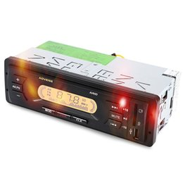 Wholesale Auto Power Amplifiers - Hot Car Radio Auto Audio Stereo USB SD Car MP3 Player AV65D 12V LCD Display FM Audio Automatic Scanning Car Power Amplifier