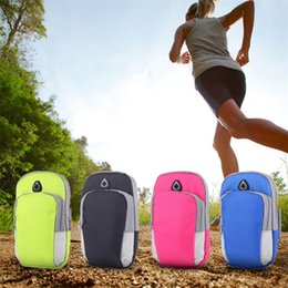 Wholesale Baseball Phone Covers - Unisex Running Bag Jogging Sport Armband Gym Arm Band Case Cover for Cell Phone under 6 inch 4 Colors 2509042