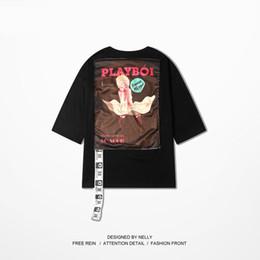 Wholesale T Shirt Fashion Necklaces - Wholesale - Korean men's clothing short-sleeved t-shirt summer retro round necklace personalized tide fit shirt sleeves sleeves sleeves men