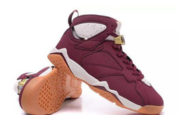 Wholesale Halloween Bunnies - 2017 air Retro 7 Cigar 7s Hare Bugs Bunny White brown men basketball shoes sports sneakers size 8-13