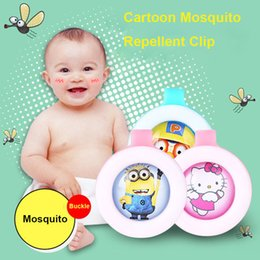 Wholesale Control Mosquitoes - Anti-mosquito Button Cute Cartoon Mosquito Repellent Clip Adults Kids Summer Non-toxic Mosquito Repellent Buckle Pest Control OTH695