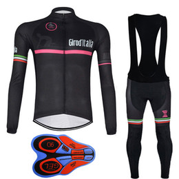 Wholesale Sports Jerseys Italy - Tour de Italy Long Sleeve Cycling Jersey Maillot Ropa Ciclismo hombre Bicycle Sport Cycling Clothing Tops Mountain Bike E0606