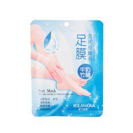 Wholesale Bamboo Foot Detox - ROLANJONA feet mask Milk and Bamboo Vinegar Feet Mask skin Peeling Exfoliating regimen for Feet care by DHL