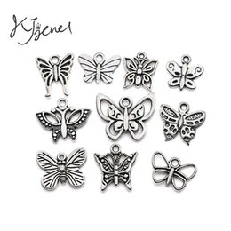 Wholesale Handmade Statement Jewelry - Butterfly Charms Tibetan Silver Plated Pendant Statement Jewelry Making DIY Handmade Jewelry Accessories fit for European Necklace