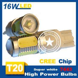 Wholesale H11 Led 5w - 2pcs lot 2*5W+4*1.5W LED Reverse Light, T20 W21W 7443 CREE LED, W21W LED,high power turning, Reverse Lamp LED Free shipping
