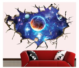 Wholesale Top Selling Decals - 2016 Direct Selling Top Fashion Estrella 1# Galaxy Universe Space Star Wall Stickers Sticker for Home Fashion Decoration Art free Shipping