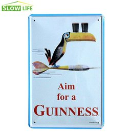 Wholesale Wholesale Guinness - Guinness Black Beer Tin Sign Bar Pub Hotel Wall Decor Metal Sign Vintage Home Decor Metal Plaque Retro Painting Metal Art Poster 20170408#