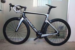 Wholesale Complete Carbon Bikes - Model NK1K Champion carbon complete bike T1000 NK1K carbon Frames 50mm carbon road bike Wheels 5800 6800 groupset free shipping