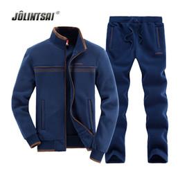 Wholesale Tracksuit Mens Colors - Wholesale-4 Colors Sportwear Sweatershirt+Pant Mens Tracksuit Sets 2016 Long-sleeve Hoodies Suits For Men Sudaderas Hombre 2 Piece Set Men