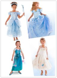Wholesale Anna Limited - New Baby Girl's Cinderella Dress Limited Edition Costume Children Elsa Anna Princess Cosplay Dresses Kids Party Gift Fancy Cloth