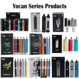 Wholesale Dry Herb Vaporizers Kits - Yocan Evolve Plus Yocan Explore 2 in 1 Kit Evolve Pandon Evolve-C Evolve-D Yocan Hive Magneto iShred Torch Wax Pen Dry herb Vaporizers