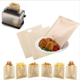 Wholesale Sandwiches Bags - 16*16.5CM Reusable Toaster Bags Safe Non Toxic BBC Microwave Oven Bag Not Sticky Toast Poke Toastabags Make A Perfect Toasted Sandwich