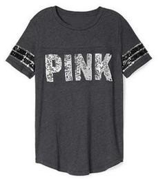 Wholesale Kawaii Love - Fashion VS secret Love Pink Women T Shirts kawaii Tumblr Instagram Clothing Harajuku Punk Teen Girls Tops Tee Femme Mujer Damen Donna