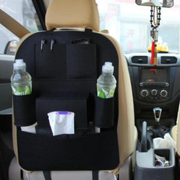 Wholesale Car Back Seat Pocket - Auto Car Storage Bag Seat Multi Pocket Travel Storage Hanger Car Styling Back Seat Cover Organizer Holder Backseat