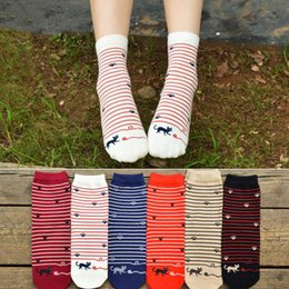 Wholesale Socks Playing - Wholesale- 2017 women socks cotton winter warm stripe pringting Play cat high tube thread female Meias sock girls High-quality