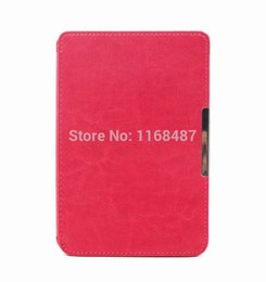 Wholesale Pocketbook 623 Case - Wholesale-Magnetic Clasp PU Leather Pocketbook Case pouch cover jacket for PocketBook 622 623 6 inch Display E-BOOK Reader free shipping