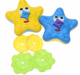 Wholesale Most Popular Toys - Wholesale- Baby Toys in Bathroom The Most Popular Water Spraying Tool With Electric Bath Toys Starfish Swimming Toys Kids Gift T1092