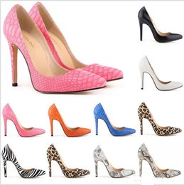 Wholesale Leopard Skin Heels - Womens Sexy Evening Party High Heels Stilettos Shoes Snake Skin Leopard Pumps Women Shoes