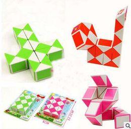 Wholesale Snake Kids - Smooth magic snake shape magic cube Children intelligence educational toys puzzle magic stick kids gifts professional rubik cube game