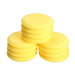Wholesale wax applicators - 12pcs Compressed Sponge Mini Yellow Car Auto Washing Cleaning Sponge Block Wax Foam Sponges Applicator Pads Car-styling Hot Sale