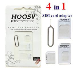Canada Noosy Nano Carte SIM Carte Micro Adaptateur Standard Adaptateur Convertisseur Adaptateur Set pour iPhone 6/5 / 4S / 4 Samsung avec Eject Pin Key Offre