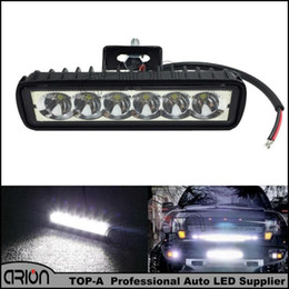 Wholesale Led Driving Lights For Boats - 18W LED Work Light Spot Boat Driving Lamp 4WD Spotlight Daytime Running Lights Bar For Truck Tractor 4x4 Offroad SUV Trailer