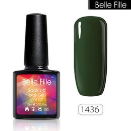 Wholesale Stencil Gel - Wholesale- Nail Art 10ml 237 Color Soak Off Gel Nail Polish Stencils For Nails Glaze Led Vernis Gel Lacquer Nail Polish Builder