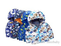 Wholesale Wholesale Ski Coats - Children's Coat Kids Dinosaurs Jackets Boys Animal Print Sweatshirts Camouflage Sport Hoodies Ski Wear Jackets Baby Kids Fashion Clothes L3