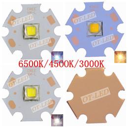 Wholesale Cree Xml2 - Wholesale-10PCS CREE XML2 LED XM-L2 T6 U2 10W WHITE Neutral White Warm White High Power LED Emitter With 20mm Cooper PCB for DIY